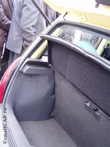 Фото: Сам багажник Оки-2 в раскрытом виде