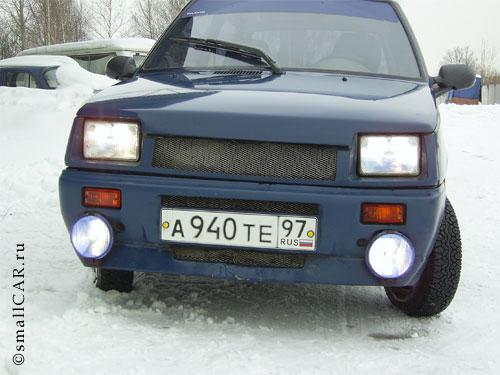 Фото: Фото 1 - синий автомобиль ОКА