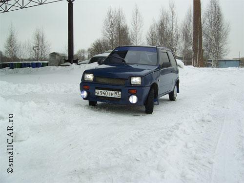 Фото: Фото 2 - синий автомобиль ОКА